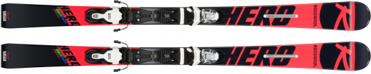 Skis ROSSIGNOL Hero Junior Multi Event et Fixations de ski
